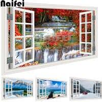 Paysage mer plage fenêtre extérieur 5D bricolage carré complet forage Diamant peinture 3d mosaïque Diamant broderie décoration de salle de mariage
