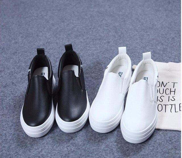 Spring Autumn fashion Women Microfiber Loafers Flats Shoes Woman Casual Slip on Platform Shoes Ladies Comfort shoes Size 35-40