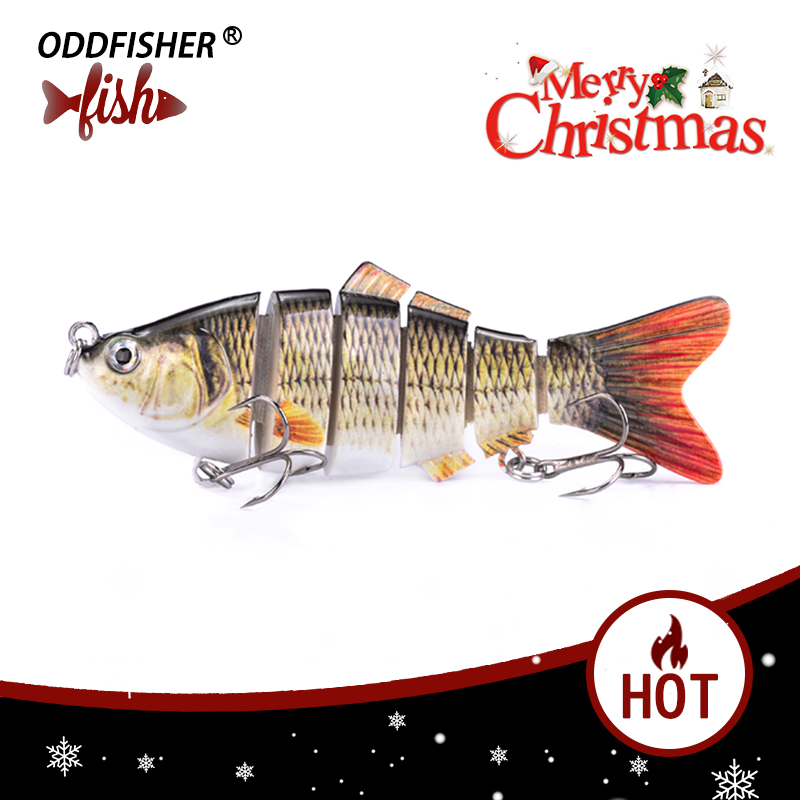 1PCS Fishing Lures 10cm 20g Wobblers For Fishing Hard Bait Jointed Baits 6 Segment Pesca Isca Artificial Lifelike Lure Crankbait