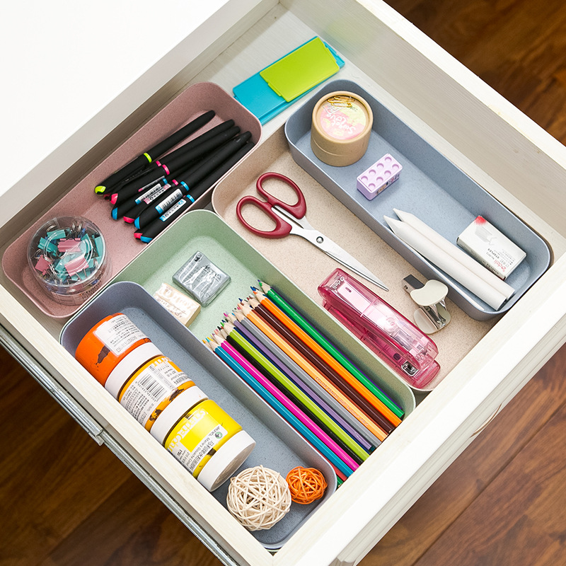 New plastic drawer organizer storage box m l office - Organizador cajon oficina ...