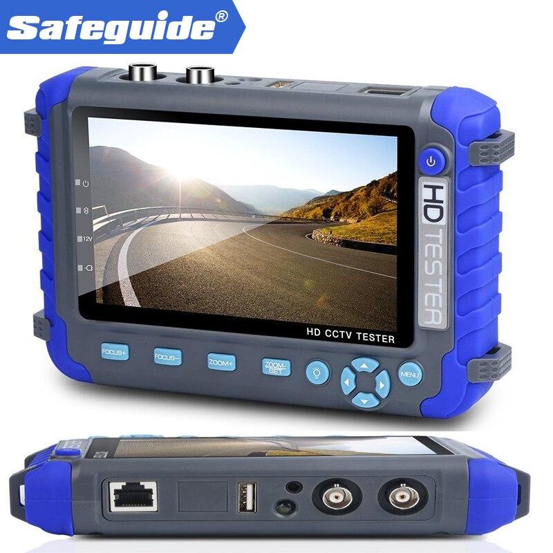 Professional CCTV Testing Tool 5 Inch TFT LCD 5MP AHD TVI 4MP 3MP CVI CVBS CCTV Camera Tester Monitor Support PTZ UTP 2 5 inch tft color lcd monitor cctv tester for cctv camera