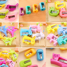 NEW super cheap Mini Cartoon Pencil Sharpener Desktop Stationery Children Roll Mill Japan office style 24pcs a lot for SALE