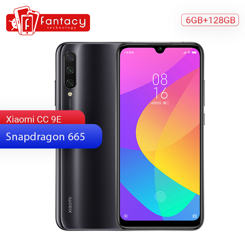 Original Xiaomi Mi CC9e 9 SE 6GB RAM 128GB ROM Mobile Phone Snapdragon 665 48MP Triple Camera 32MP Front Camera 6.088