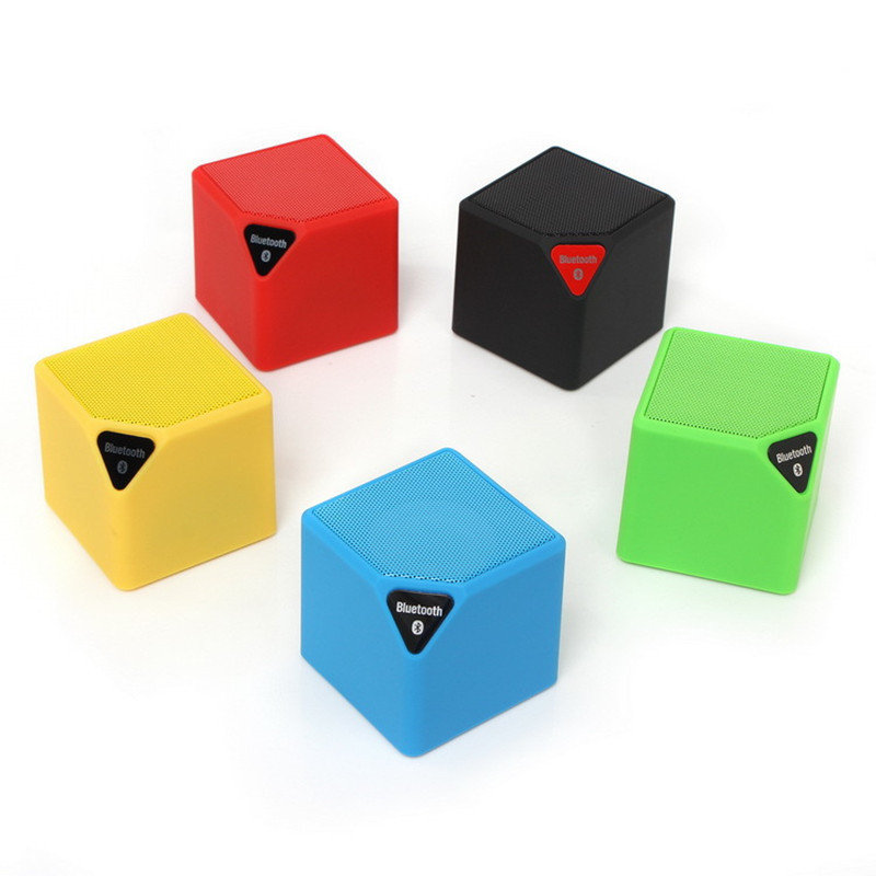 10pcs/lot Portable Mini X3 Cube Bluetooth Speaker TF USB Wireless Music Player Sound Box Subwoofer Loudspeakers with Microphone gaciron mini bluetooth speaker portable wireless cycling bike bicycle outdoor subwoofer sound 3d stereo music camp tent light