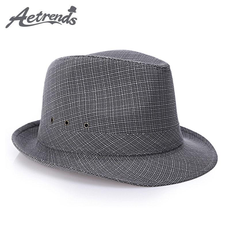 2017. gads Anglijas Retro kungi Fedoras Top džeza cepures vīriešiem Panama Cap Z-5369