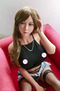 Image 4 - 140cm 62 # חדש למעלה באיכות אירופאי ואמריקאי בנות כמו בחיים TPE מין בובות ועצמות, מלאכותי נרתיק אוראלי אנאלי בובה