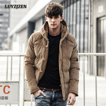 Winter Jacket Parkas Men Casual Hooded Men's Solid Cotton Jackets 2017 Male Brand New Design Corduroy Clothing High Quality D01