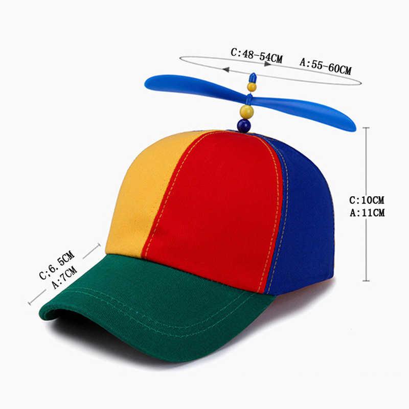 Letnie dziecko dorosłych regulowany śmigło piłka czapka z daszkiem Dragonfly Top wielu kolorowy Patchwork śmieszne piękne chłopcy dziewczęta Snapback