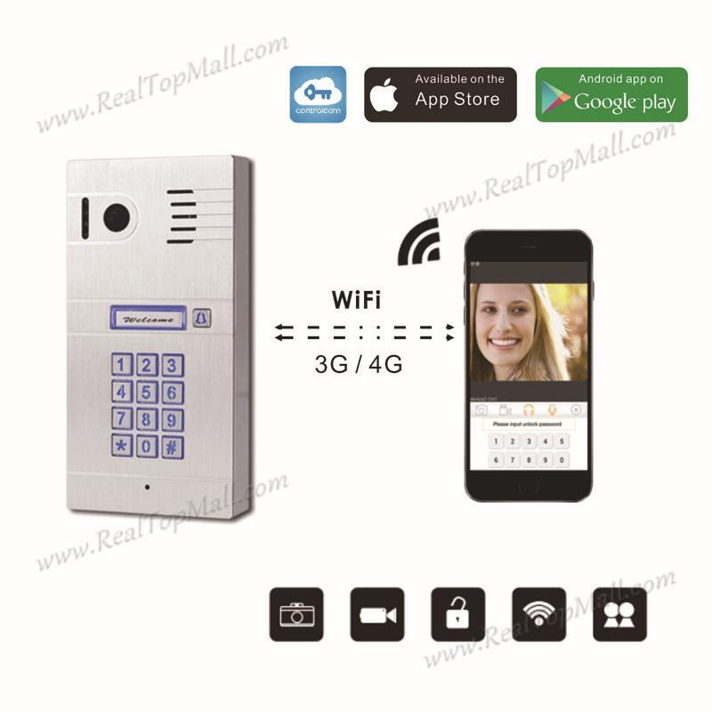 Global Mobile Video Door Phone 3G 4G/WiFi IP Intercom System Two Ways Communicate/remotely Control Via Smartphones