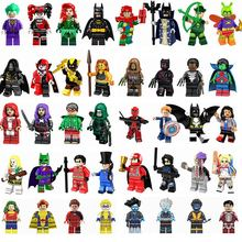Figurine DC Super Heroes Batman Joker Harley Quinn Ironman Catwoman Superman Arrow Cute Figurines Toys for Children Legoings(China)