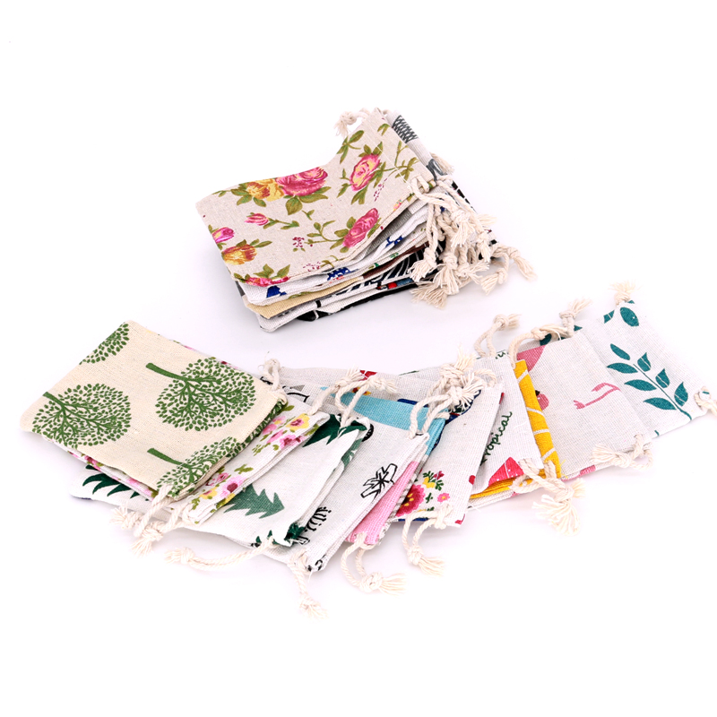 5pcs/lots Multi Color 4sizes Cotton Gift Bags Jewelry Packaging Bag Wedding Party Decoration Favors Drawable Gift Bag Pouches