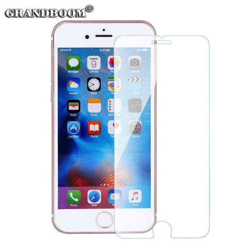 bilder für GRANDBOOM 9 H Ultradünne 0,3mm Anti-splitter Gehärtetem Glas Für iPhone 6 6 s plus 7 5 5 s 5c 4 4 s Displayschutzfolie 50 teile/los