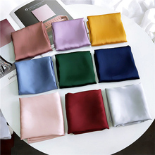 2019 fashion square scarf solid color satin small 70 * 70CM ladies head