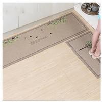 2PCS Modern Kitchen Mat Anti slip Floor Mat Hallway Balcony Bathroom Carpet Set Doormat Free Shipping