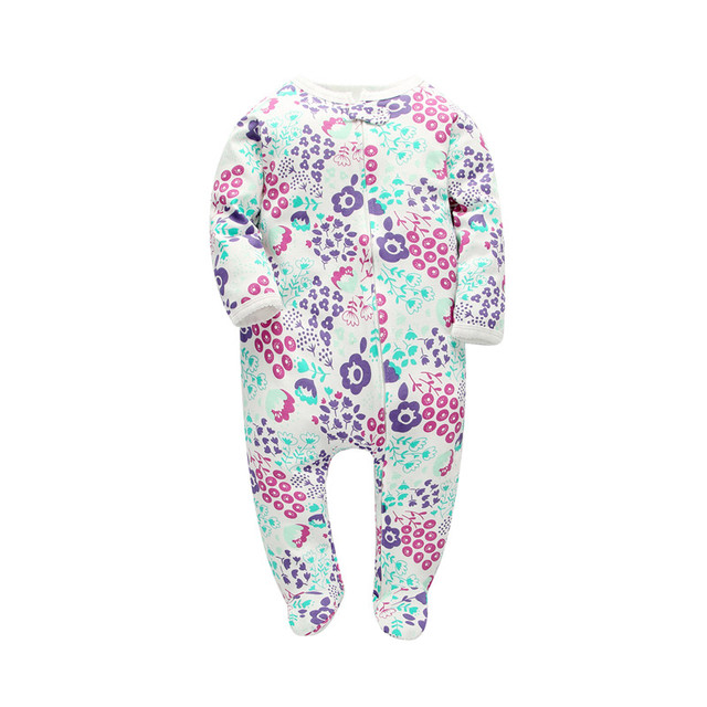 Orangemom official store newborn -24M romper new born baby clothes print  flower cotton infant girl sleepers jumpsuit baby girl c483bea6d