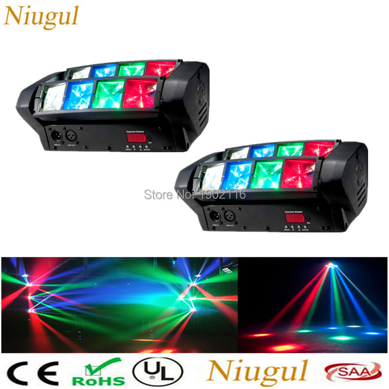 2pcs/lot RGBW Double Head 8x10W LED Beam Light Mini led Spider Light DMX512 Control for Stage disco dj equipments Free shipping 2pcs lot rgbw double head 8x10w led beam light mini led spider light dmx512 control for stage disco dj equipments free shipping