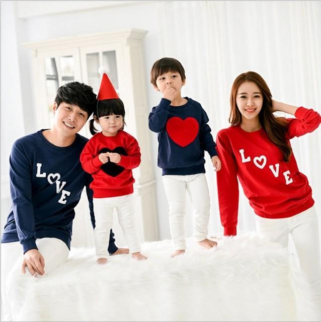 Family Christmas Pajamas Love Children Sweatshirt Kids Sleepwear Pajama  2018 Mother Daughter Clothes Parent-child Clothing e8f2eab45