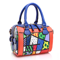 ROMERO BRITTO 2017 New Arrive Bags Handbag Women Famous Brands Digital Printing Beautiful Floral PU Shoulder Bag Ladies Handbag