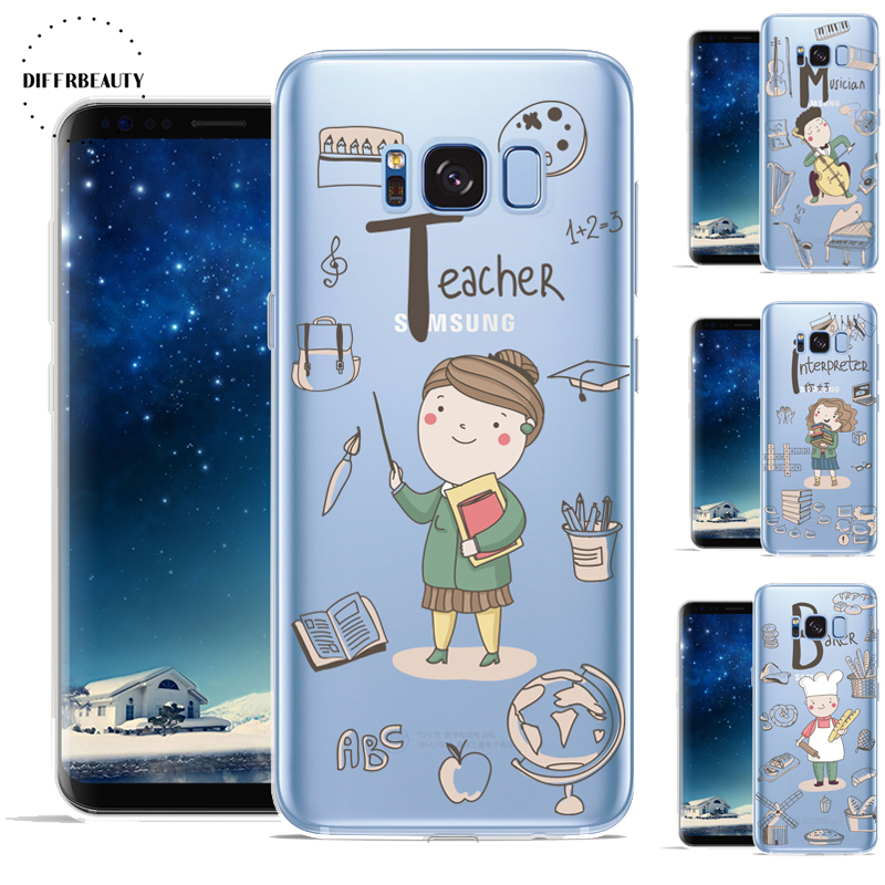New Lovely Doctor Teacher Occupation Chef DIFFRBEAUTY Transparent Silicone <font><b>Phone</b></font> Shell <font><b>Case</b></font> For <font><b>Samsung</b></font> GALAXY S8 <font><b>S7</b></font> S6 S8 Plus image