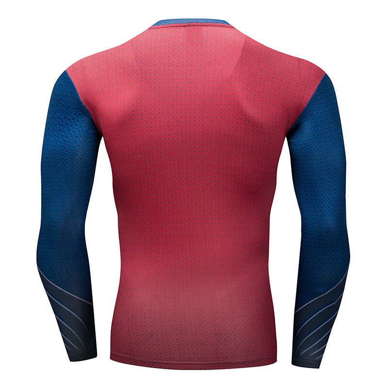 압축 셔츠 남자 티셔츠 3D 슈퍼 영웅 겨울 군인 버키/수퍼맨 운동 휘트니스 티셔츠 체육관 레저 휘트니스 탑스