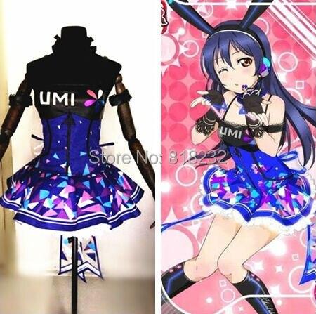 Amor Ao Vivo Sonoda Umi Escola Idol Projeto Cyber Games Light Up Deslizamento Vestido Tee Vestido Outfit Uniforme Anime Cosplay trajes