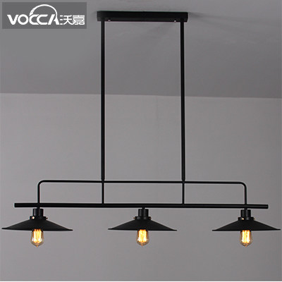 3 Head Industrial Style Vintage Wrought Iron Dining Room Pendant Light Foyer Light Coffee Shop Decoration Lamp Free Shipping