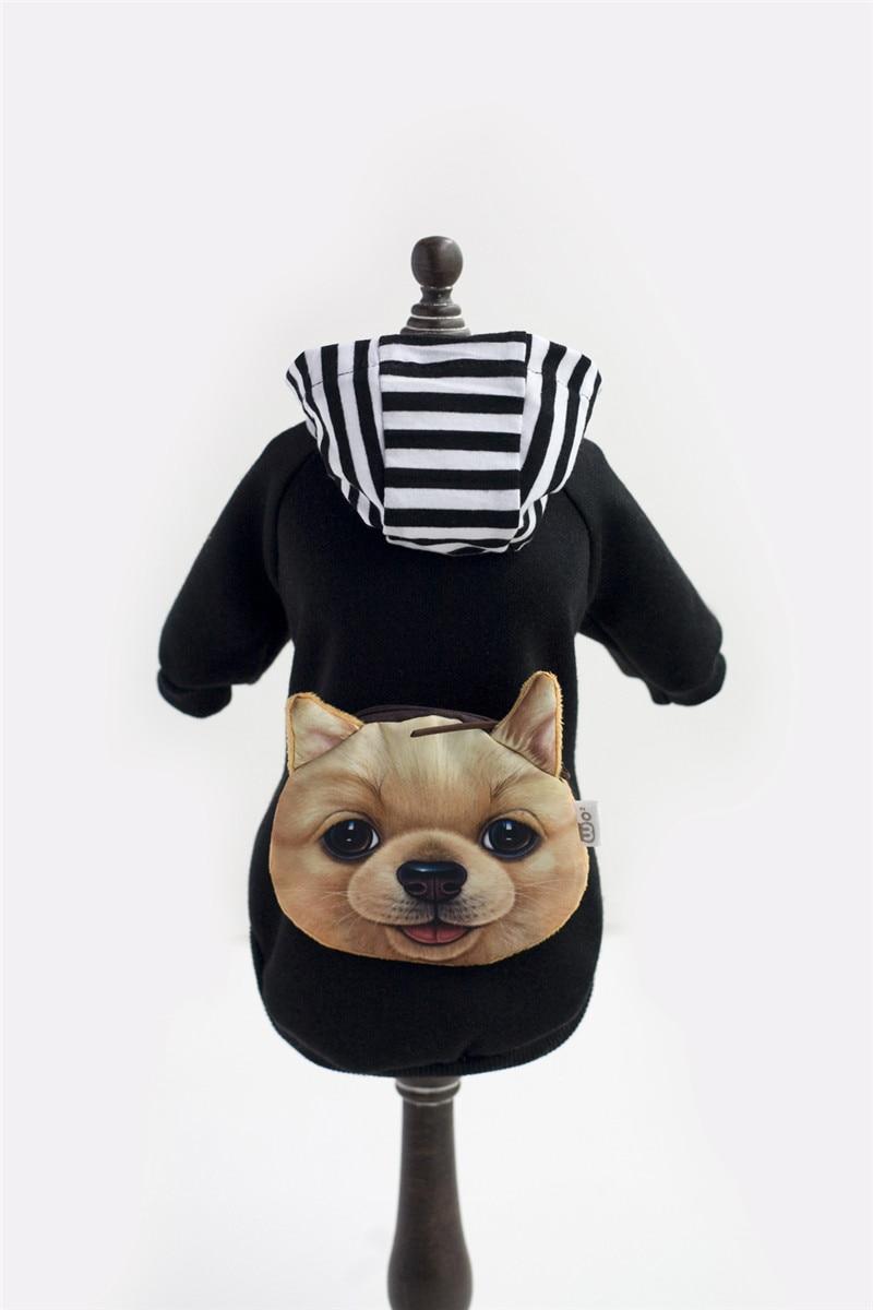 A35 kutya őszi téli pamut és bársony pulóverek - táska design - Pet termékek - Fénykép 6