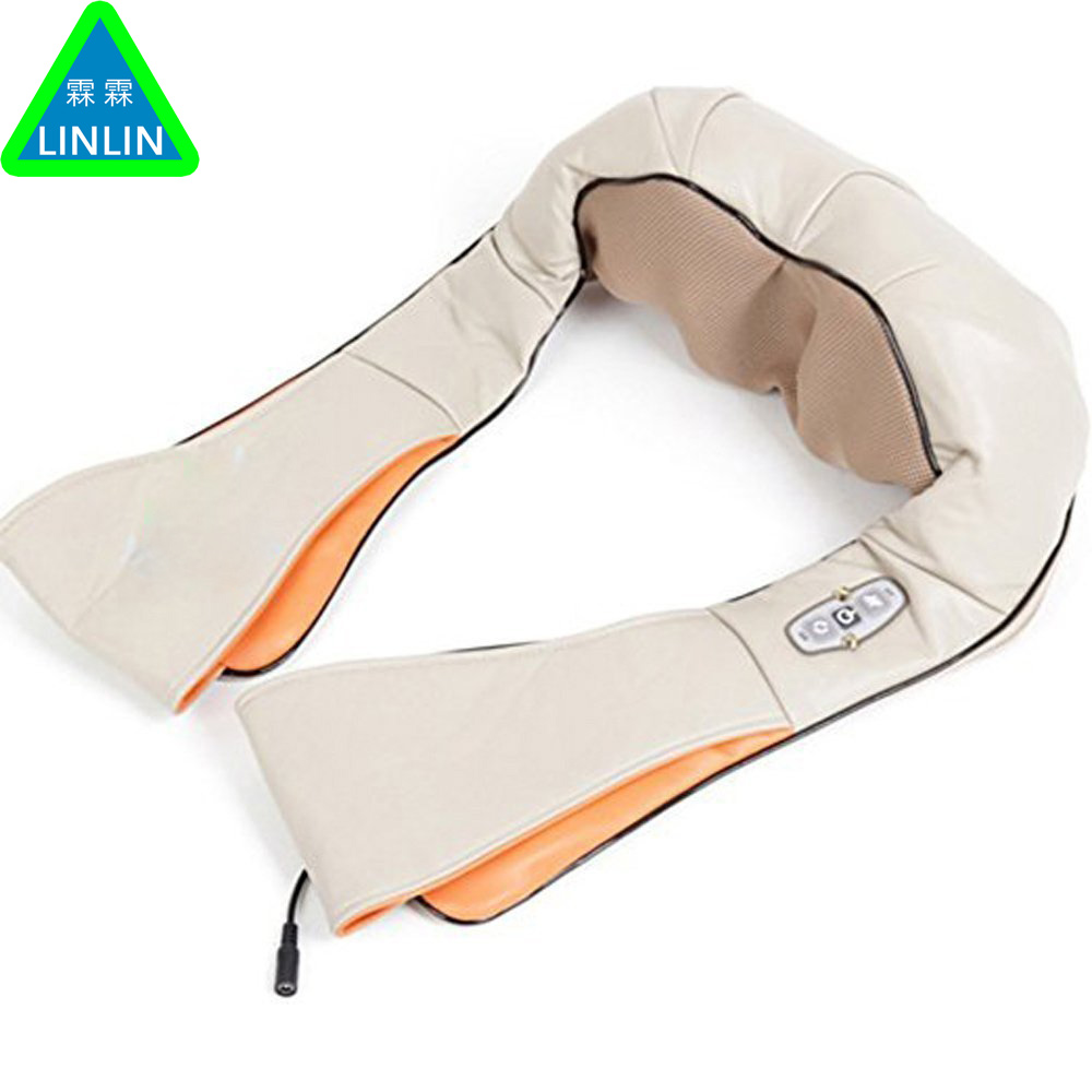 LINLIN Multifunction anti cellulite home car massager pillow acupuncture shiatsu heating kneading neck shoulder massage belt