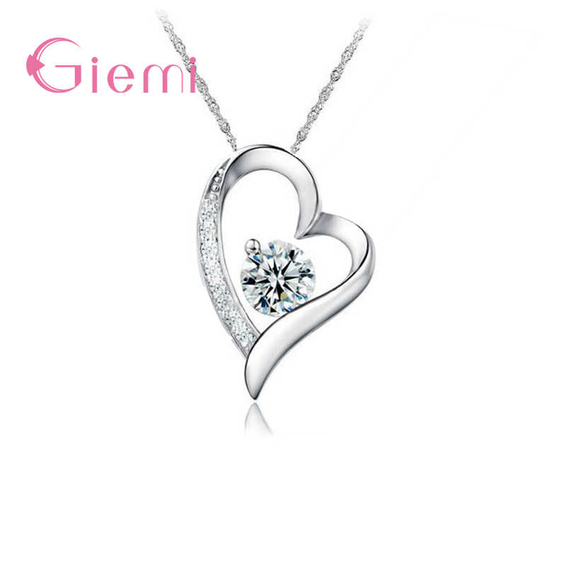 Original 925 Sterling Silver  Women Pendant Necklace for Wedding party Girls Choker Necklaces Collar Jewelry Wholesale
