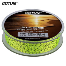 Goture 100m 8 fios fly linha de apoio 20lb 30lb alta resistência baixo estiramento truta dacron trançado pesca linha
