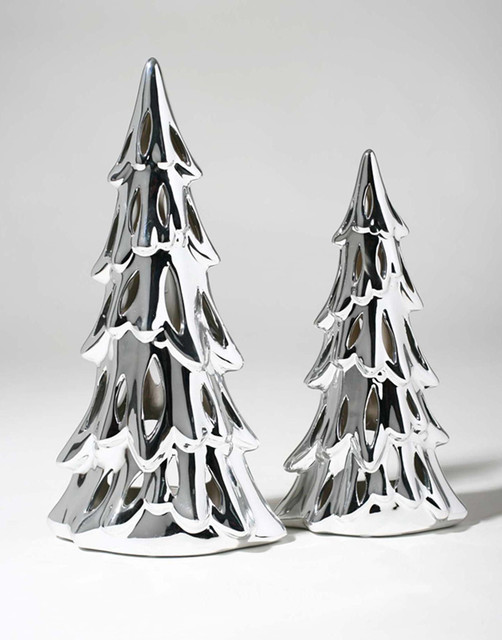 Us 55 25 Ceramic Plating Silver Christmas Tree Ornaments Candlestick Modern Furniture Home Accessories Jewelry Matching Wholesale In Pillow