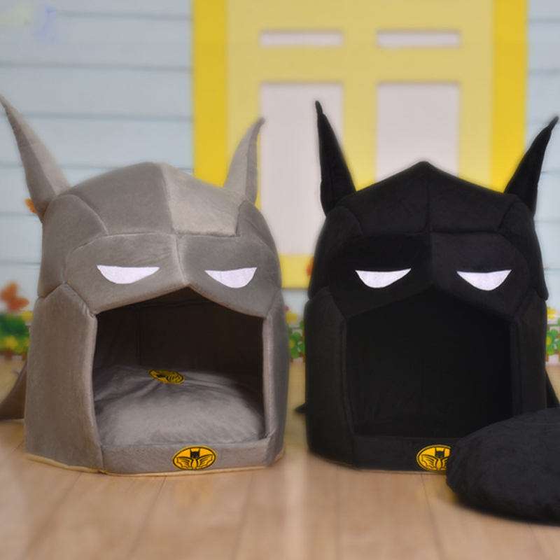 Batman Shape Dog House Pet Dog Bed Cat Bed House For Small