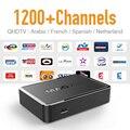 Mag 250 Conta 1200 Canais Árabe IPTV Box com Qhdtv Mag250 francês Argelino Islâmica Céu Cheio de Esportes Ao Vivo Tv Europa receptor