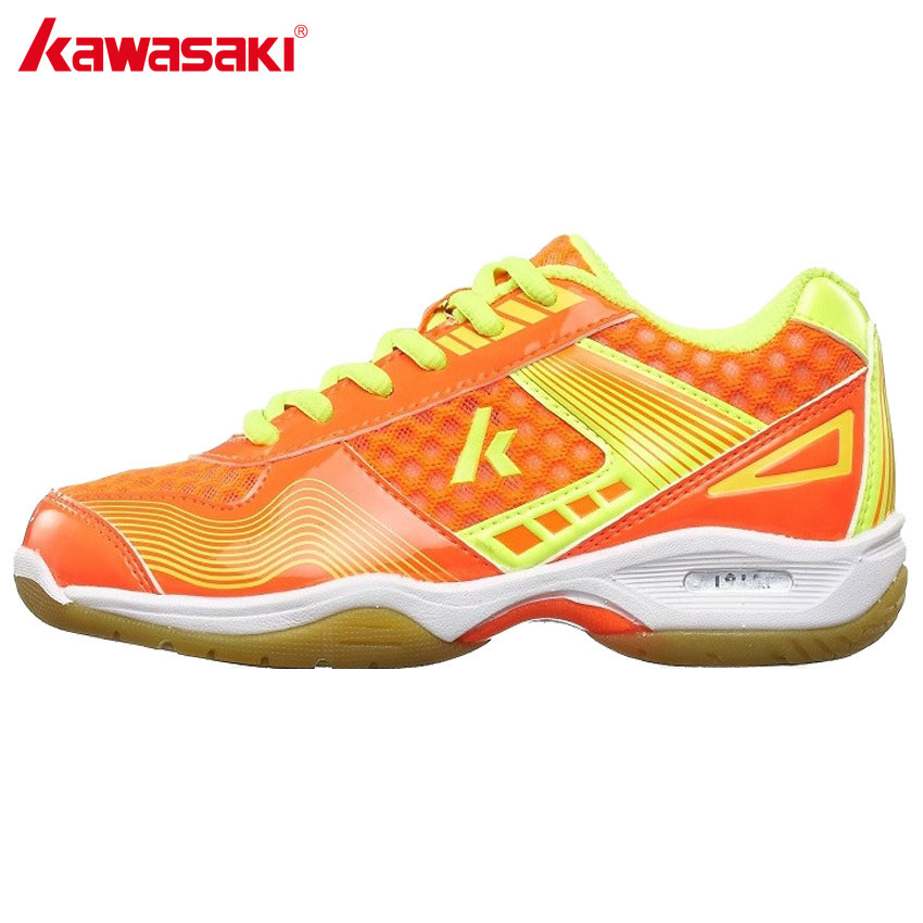 KAWASAKI Brand Kids Sport Shoes Professional Badminton Shoes for Child Anti-Slippery Breathable Indoor Sports Sneakers KC-12 13 professional brand kawasaki badminton shoes 2017 sport sneakers for men women anti slippery pvc floor sports shoe k 065 k 066