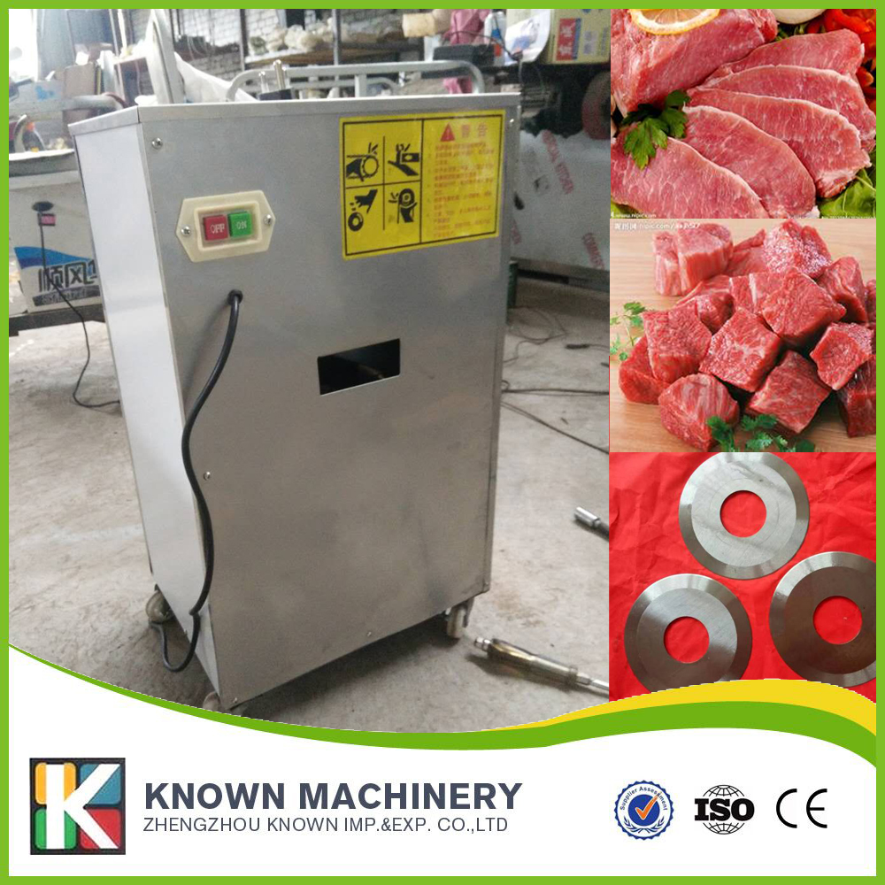 220V automatic meat cutting machine for meat slices, strips and cubes shipping CFR price by sea ce iso under 6cm wide and length unlimited little fish killer machine with cfr price shipping by sea