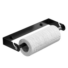 Kitchen Roll Holder - Stainless Steel Paper Towel Wall-Mount Cling Film Dispenser, Hand Detachable Stora