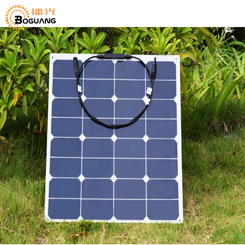 BOGUANG 50w 18V PV outdoor Solar Panel efficient solar cell speaker sport travel marine yacht RV motor home battery solar Led 100w 12v monocrystalline solar panel for 12v battery rv boat car home solar power