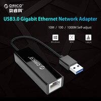 ORICO USB 3 0 Gigabit Ethernet Adapter USB To RJ45 10M 100 1000M Lan Network Card