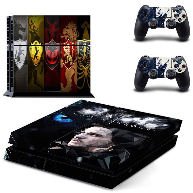 HOMEREALLY PS4 Skin Game Thrones Winter is Coming Stark Sticker Wrap For Sony PlayStation 4 Console and Controller Ps4 Accessory 4