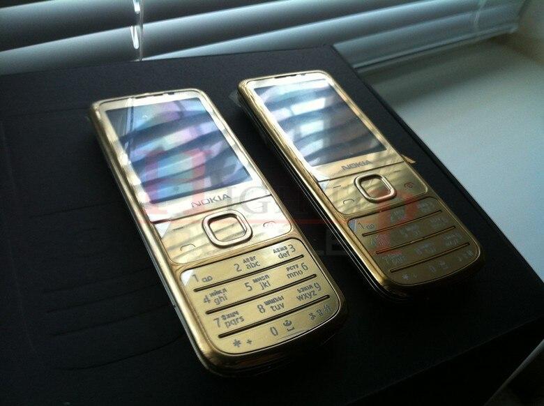Горячая Nokia разблокированный 6700C 6700 классический золотой мобильный телефон 5MP Бесплатный кожаный чехол русская клавиатура