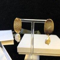 Famous Brand Irregular Pearl Jewelry For Women Freshwater Pear Earrings Tassel Pearl drop Wedding Party Earrings women gift