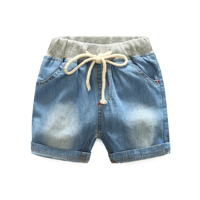 2f75e72bd193 High waist Boys denim pants Summer Casual baby boys jeans shorts ...