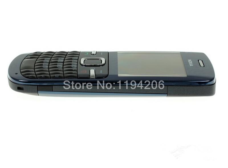Refurbished nokia c3-00 WIFI 2MP bluetooth camera Jave unlocked phone blue 5