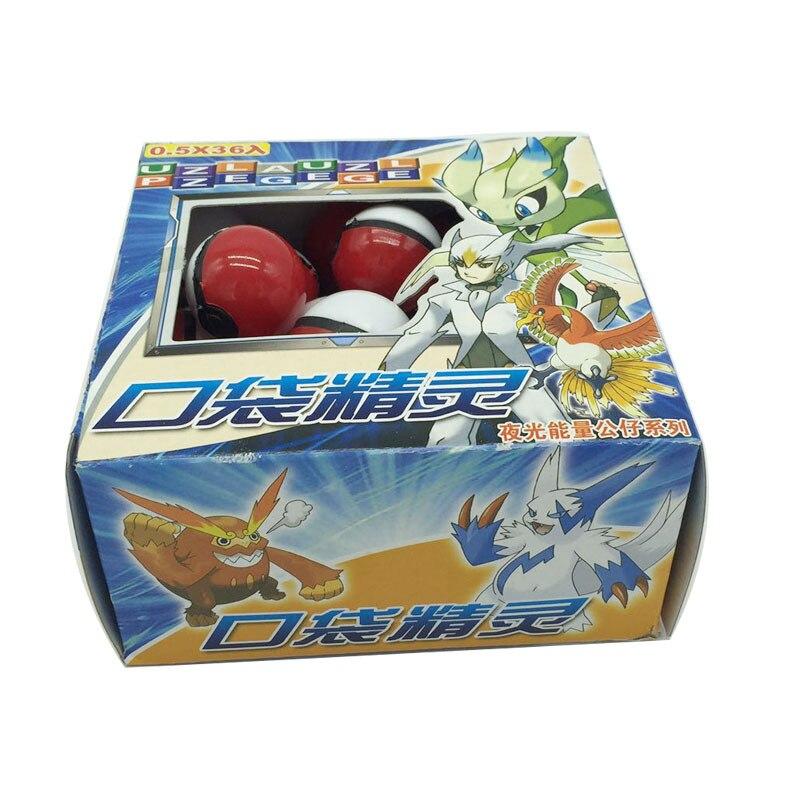 Bébé fans magique jouet pour animaux de compagnie 15 lot (540 pièces) Anime dessin animé Mini balle haute qualité PVC balle jouet avec elfe gratuit et autocollants jouets de poche - 5