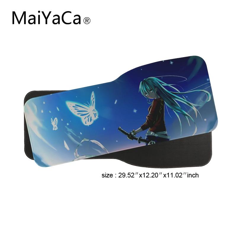 MaiYaCa Cute Anime girl Hatsune Miku Mouse pad gamer gaming Notbook computer mousepad gaming mouse mats 31x75 cm 0.2cm