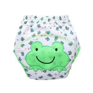 Image 5 - 卸売30ピース/ロット送料無料子供綿赤ちゃん動物おまる赤ちゃん防水トレーニングパンツ幼児学習パンツパンパンツ