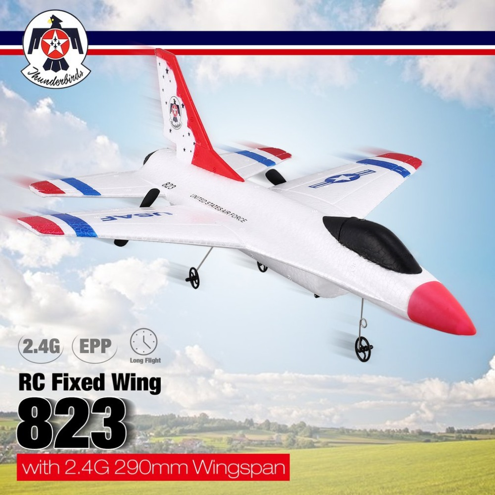 FX-823 2.4G 2CH Remote Control Glider 290mm Wingspan EPP RC Fixed Wing Airplane Aircraft Remote Control Drone for Kid Gift RTF image