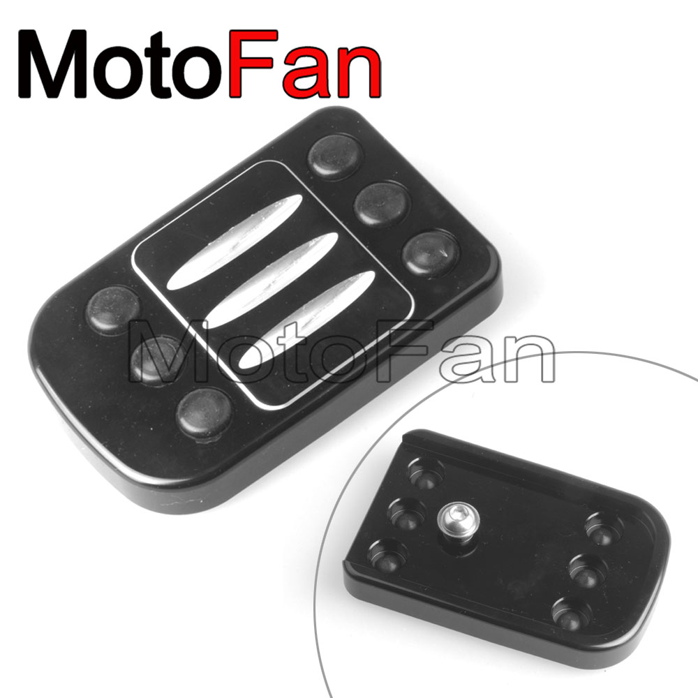 Shallowcut Large Brake Pedal Pad Cover For 1988-2017 Harley Touring Street Glide