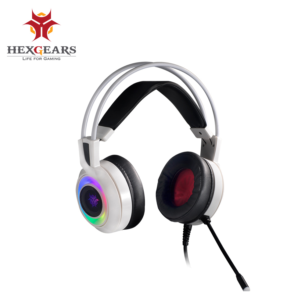HEXGEARS GH102 7.1 Stereo RGB Light Shock Feedback Gaming Headphones USB PC Phone Auriculares Mic Gaming Bass Headphone image