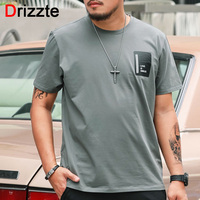 Drizzte Real Plus Size 2XL 6XL 85 140KG T Shirt Men Simple Green Grey Korean S